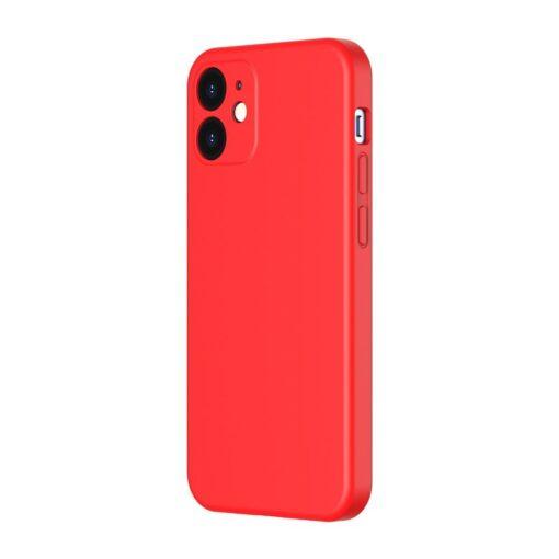 iPhone 12 Baseus Liquid Silica case umbris silikoonist punane WIAPIPH61N YT09 1