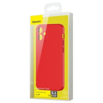 iPhone 12 Baseus Liquid Silica case umbris silikoonist punane WIAPIPH61N YT09 4