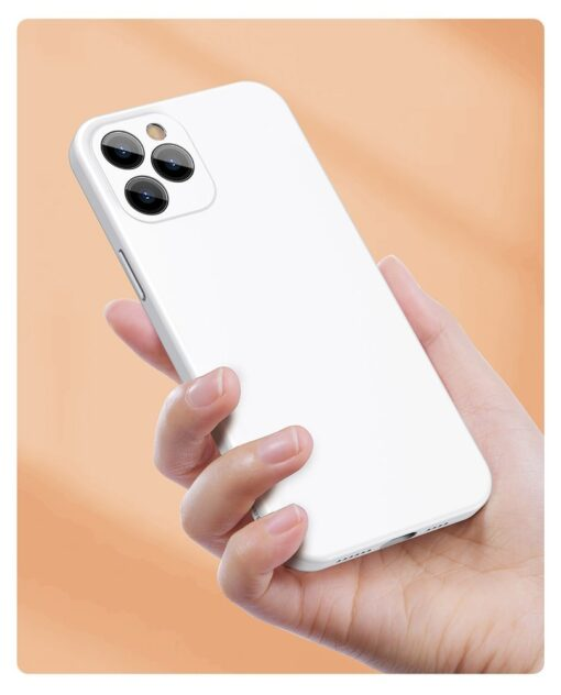 iPhone 12 Baseus Liquid Silica case umbris silikoonist valge WIAPIPH61N YT02 10