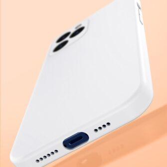 iPhone 12 Baseus Liquid Silica case umbris silikoonist valge WIAPIPH61N YT02 11