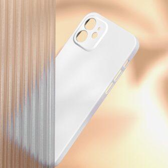 iPhone 12 Baseus Liquid Silica case umbris silikoonist valge WIAPIPH61N YT02 2