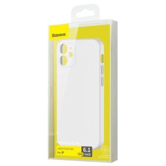 iPhone 12 Baseus Liquid Silica case umbris silikoonist valge WIAPIPH61N YT02 4