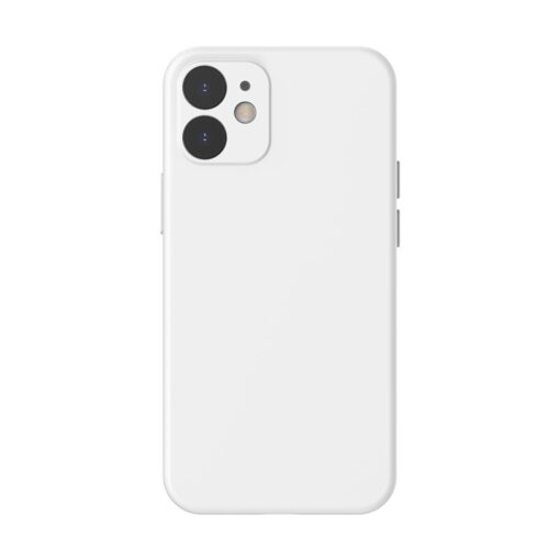 iPhone 12 Baseus Liquid Silica case umbris silikoonist valge WIAPIPH61N YT02