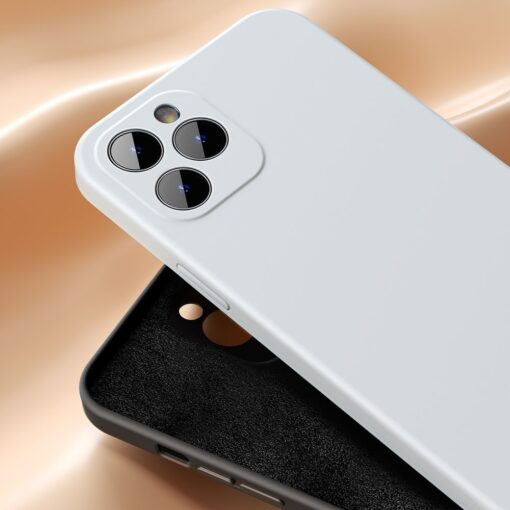 iPhone 12 Baseus Liquid Silica case umbris silikoonist valge WIAPIPH61N YT02 6