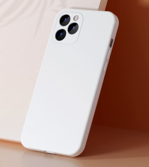 iPhone 12 Baseus Liquid Silica case umbris silikoonist valge WIAPIPH61N YT02 7