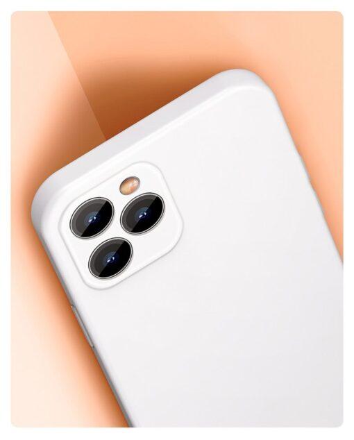 iPhone 12 Baseus Liquid Silica case umbris silikoonist valge WIAPIPH61N YT02 8