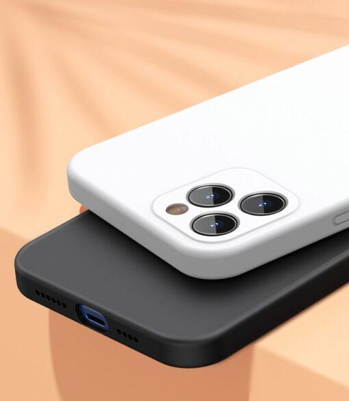 iPhone 12 Baseus Liquid Silica case umbris silikoonist valge WIAPIPH61N YT02 9
