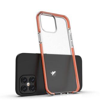iPhone 12 Pro Max ümbris silikoonist läbipaistev musta raamiga 2