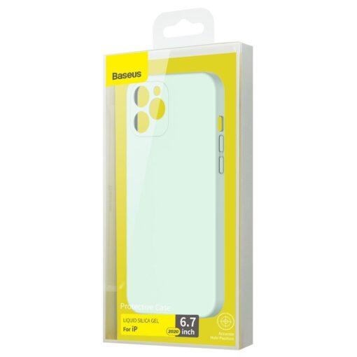 iPhone 12 Pro Max Baseus Liquid Silica case umbris silikoonist mundiroheline WIAPIPH67N YT6B 4