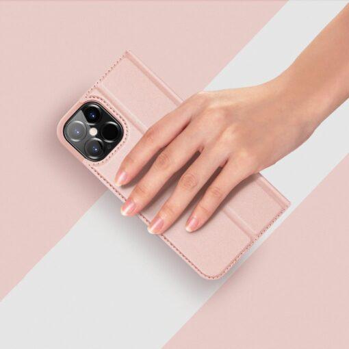 iPhone 12 Pro Max kaaned Dux Ducis Skin Pro Bookcase roosa 11