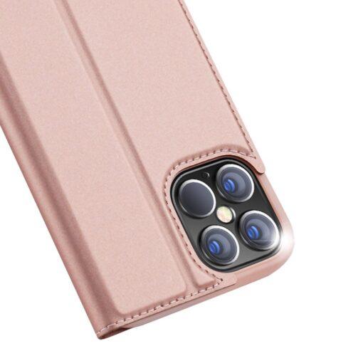iPhone 12 Pro Max kaaned Dux Ducis Skin Pro Bookcase roosa 2