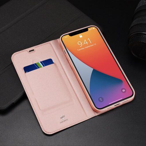 iPhone 12 Pro Max kaaned Dux Ducis Skin Pro Bookcase roosa 23