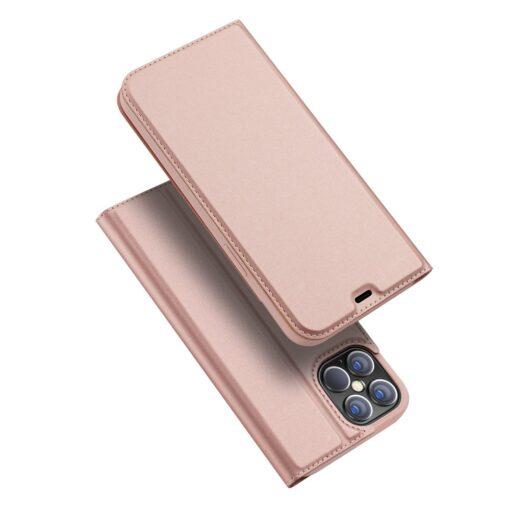iPhone 12 Pro Max kaaned Dux Ducis Skin Pro Bookcase roosa