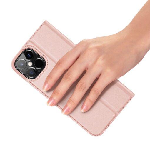 iPhone 12 Pro Max kaaned Dux Ducis Skin Pro Bookcase roosa 6