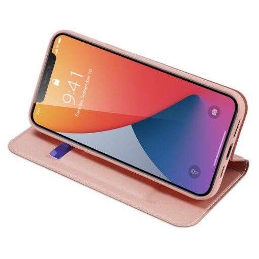 iPhone 12 Pro Max kaaned Dux Ducis Skin Pro Bookcase roosa 9