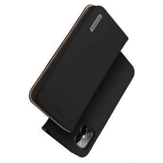 iPhone 12 Pro Max kaaned päris nahast kaarditasku rahataskuga DUX DUCIS Wish must 1