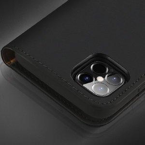 iPhone 12 Pro Max kaaned päris nahast kaarditasku rahataskuga DUX DUCIS Wish must 12