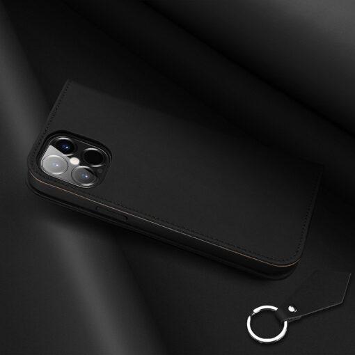iPhone 12 Pro Max kaaned päris nahast kaarditasku rahataskuga DUX DUCIS Wish must 6