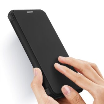 iPhone 12 Pro Max kunstnahast kaaned kaarditaskuga DUX DUCIS Skin X must 1