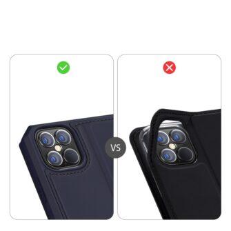 iPhone 12 Pro Max kunstnahast kaaned kaarditaskuga DUX DUCIS Skin X sinine 10