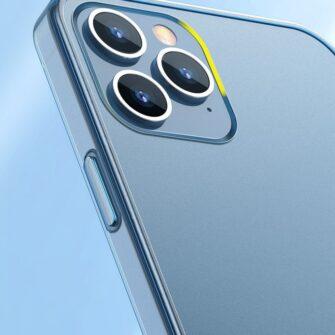 iPhone 12 Pro Max plastikust frosted umbris Baseus Frosted Glass Case sinine 10