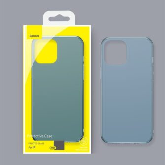 iPhone 12 Pro Max plastikust frosted umbris Baseus Frosted Glass Case sinine 11