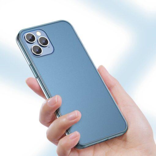 iPhone 12 Pro Max plastikust frosted umbris Baseus Frosted Glass Case sinine 2