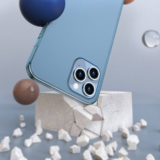 iPhone 12 Pro Max plastikust frosted umbris Baseus Frosted Glass Case sinine 3