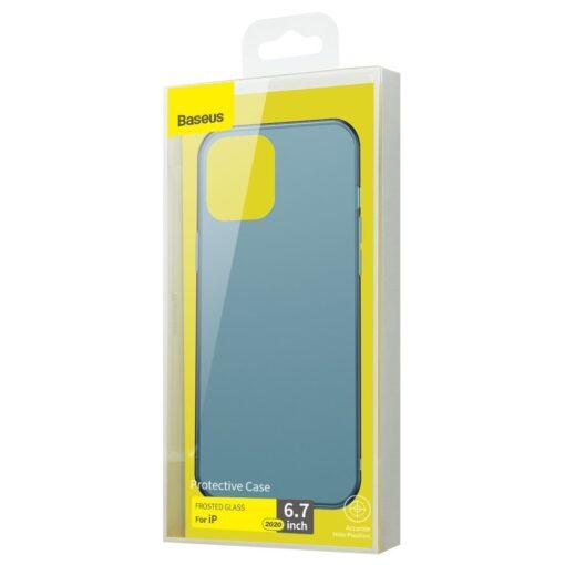 iPhone 12 Pro Max plastikust frosted umbris Baseus Frosted Glass Case sinine 4