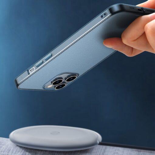 iPhone 12 Pro Max plastikust frosted umbris Baseus Frosted Glass Case sinine 5