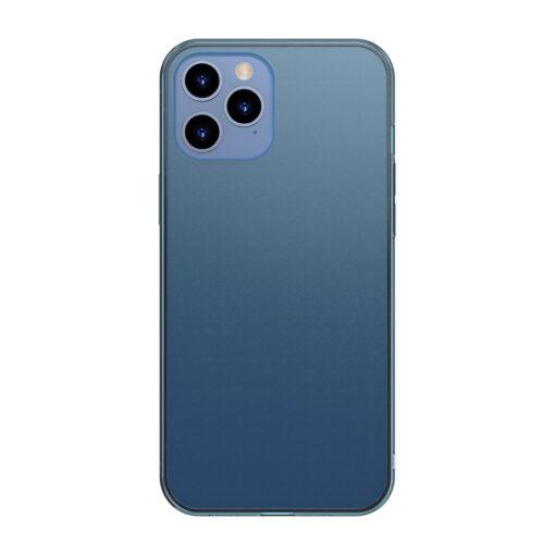 iPhone 12 Pro Max plastikust frosted umbris Baseus Frosted Glass Case sinine
