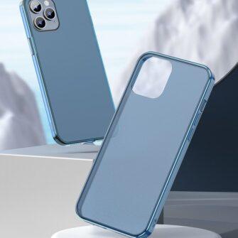 iPhone 12 Pro Max plastikust frosted umbris Baseus Frosted Glass Case sinine 6