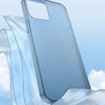 iPhone 12 Pro Max plastikust frosted umbris Baseus Frosted Glass Case sinine 7