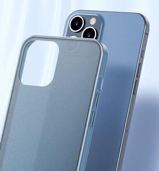 iPhone 12 Pro Max plastikust frosted umbris Baseus Frosted Glass Case sinine 8