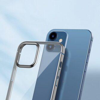 iPhone 12 Pro Max silikoonist umbris laikivate servadega Baseus Shining Case silikoonist hobe 3