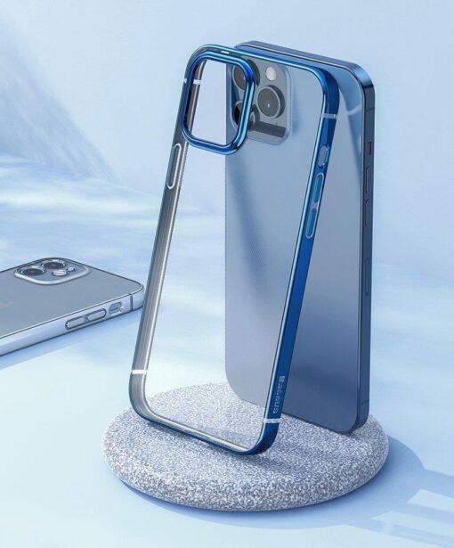 iPhone 12 Pro Max silikoonist umbris laikivate servadega Baseus Shining Case silikoonist hobe 6