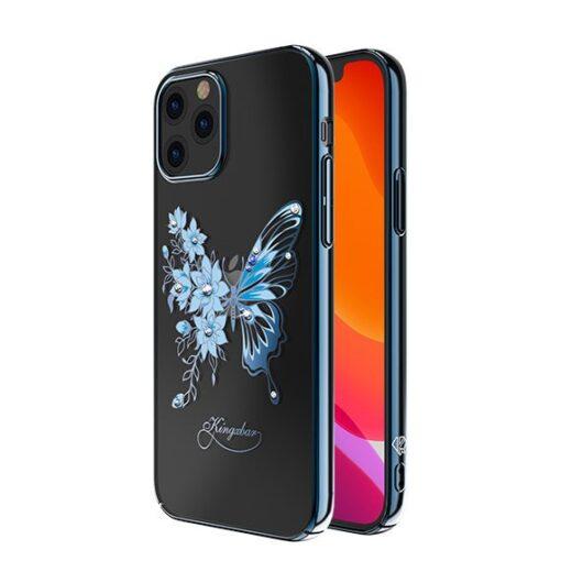iPhone 12 iPhone 12 Pro umbris Kingxbar Butterfly elastsest plastikust Swarowski kristallikestega sinine 1