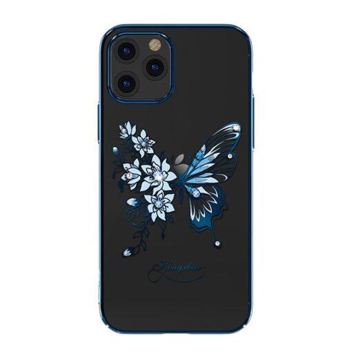 iPhone 12 iPhone 12 Pro umbris Kingxbar Butterfly elastsest plastikust Swarowski kristallikestega sinine