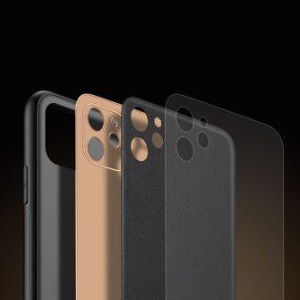 iPhone 12 mini ümbris YOLO kunstnahast ja silikoonist servadega must 7