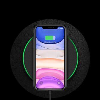 iPhone 12 mini ümbris YOLO kunstnahast ja silikoonist servadega must 9
