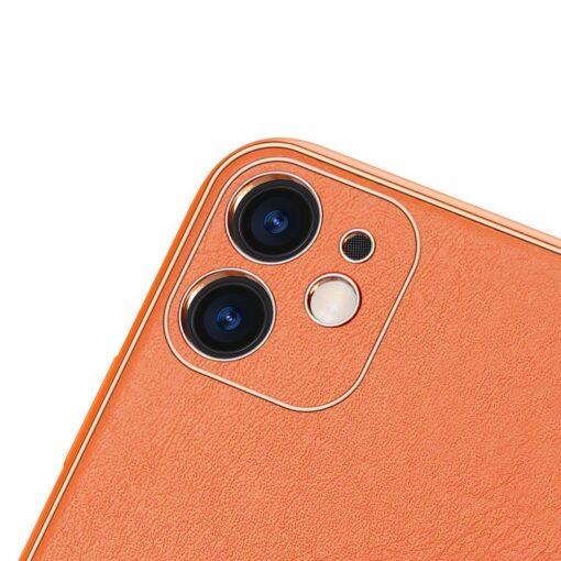 iPhone 12 mini ümbris YOLO kunstnahast ja silikoonist servadega oranž 2