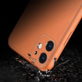 iPhone 12 mini ümbris YOLO kunstnahast ja silikoonist servadega oranž 8