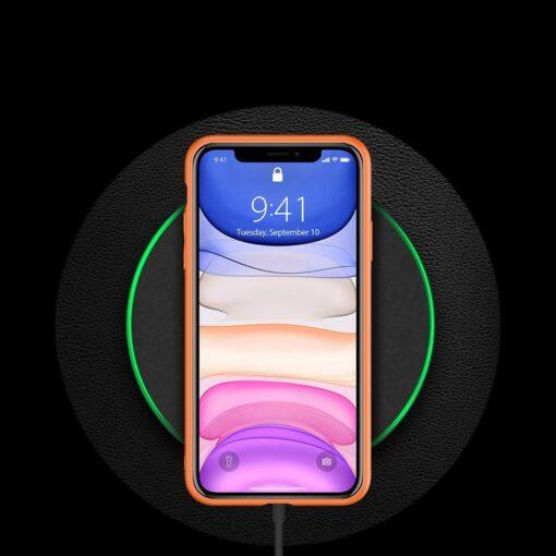 iPhone 12 mini ümbris YOLO kunstnahast ja silikoonist servadega oranž 9