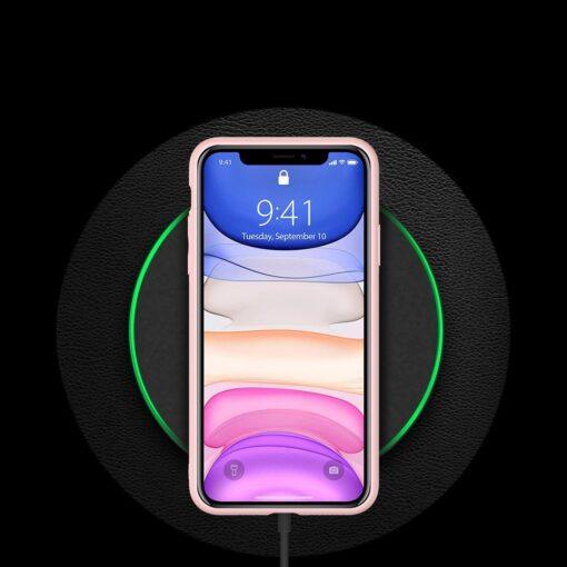 iPhone 12 mini ümbris YOLO kunstnahast ja silikoonist servadega roosa 8