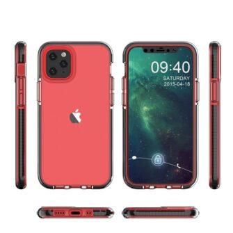 iPhone 12 mini ümbris silikoonist läbipaistev musta raamiga 1