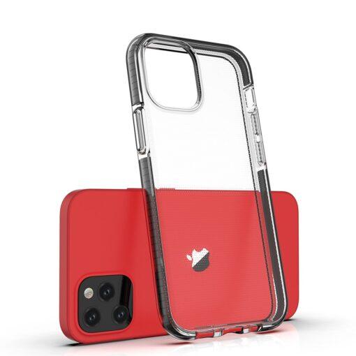 iPhone 12 mini ümbris silikoonist läbipaistev musta raamiga 2