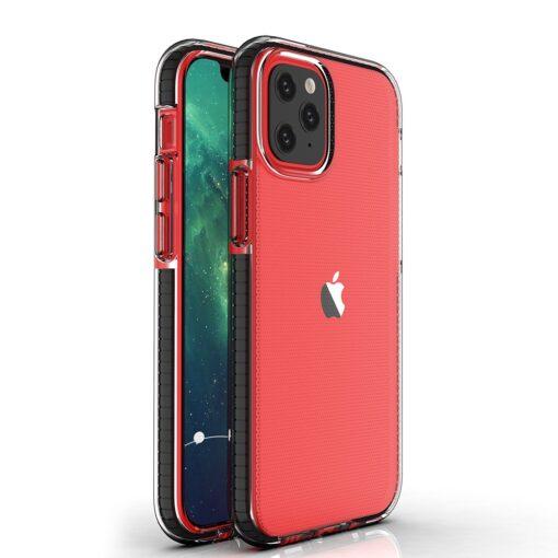 iPhone 12 mini ümbris silikoonist läbipaistev musta raamiga