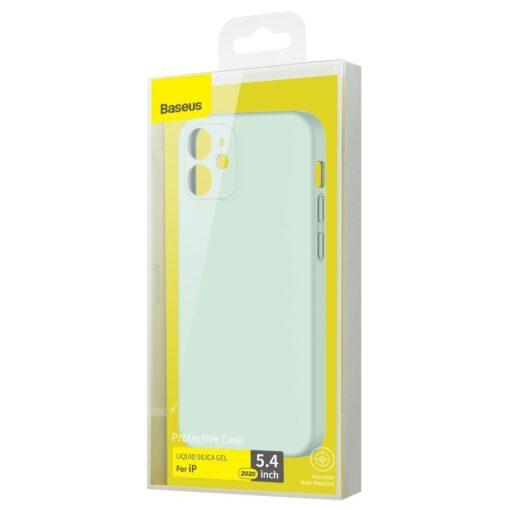 iPhone 12 mini Baseus Liquid Silica case umbris silikoonist mundiroheline WIAPIPH54N YT6B 4