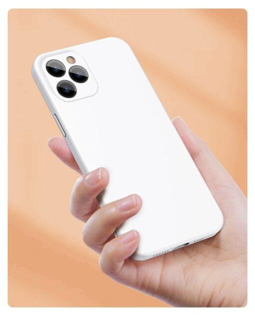iPhone 12 mini Baseus Liquid Silica case umbris silikoonist punane WIAPIPH54N YT09 10