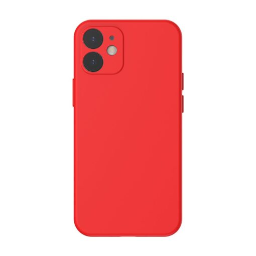 iPhone 12 mini Baseus Liquid Silica case umbris silikoonist punane WIAPIPH54N YT09